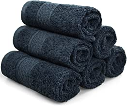 Cleanbear Extra Soft Wash Cloths Washcloths Set 6-Pack 13 x 13 Inches, Highly Absorbent Facecloths (Dark Gray)
