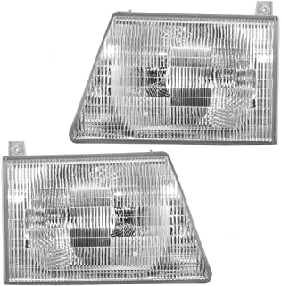 Depo 331-1124L-ASN Ford Econoline Driver Side Replacement Headlight Assembly 02-00-331-1124L-ASN