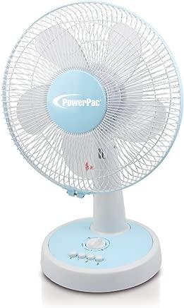 "PowerPac 12"" Desk Fan with Oscillation & Timer"