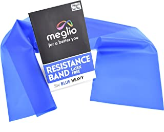 Latex Free Resistance Bands 2 Metre. Exercise Bands for Physiotherapy, Strength Training & Fitness Workouts, Yoga, Pilates, Stretching. Range of Resistance Strengths Available & Exercise Guide Booklet Included