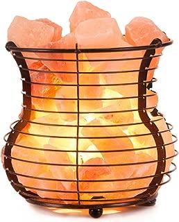 Himalayan Pink Salt Lamp Basket with Cord & Bulb