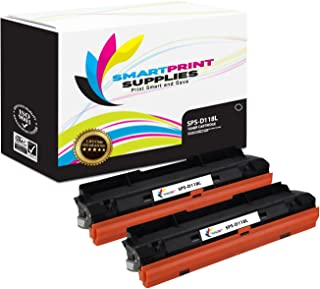 Smart Print Supplies Compatible MLT-D118L Black High Yield Toner Cartridge Replacement for Samsung Xpress M3015 M3065 Printers (4,000 Pages) - 2 Pack