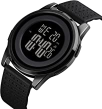 YUINK Mens Digital Sport Watches Ultra-Thin Waterproof Large Face Minimalist Wrist Watches for Men