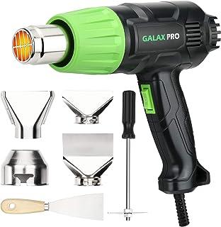 GALAX PRO Pistola de Aire Caliente,2000W Dos Rangos de Temperatura Ajustables(Ⅰ: 350 ℃, Ⅱ: 550 ℃),Doble Protección, con 6 Accesorios,Para Eliminar Pintura,Doblar Tubos