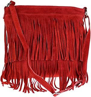 Best red suede fringe purse Reviews