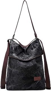 Travistar Damen Canvas Handtasche Rucksack Groß Schultertasche Vintage Damen umhängetasche Anti Diebstahl Tasche Damen Hob...