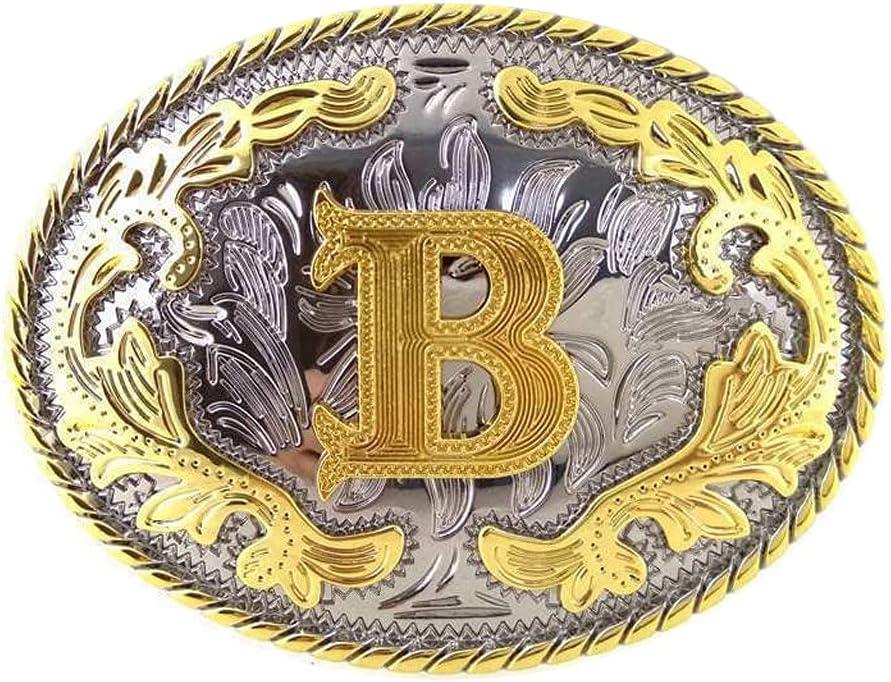 YFQHDD Initial Letter B Metal Western Buckle Ranking TOP14 Cowb Belt Ranking TOP1 Arabesque