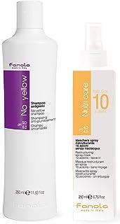 Fanola No Yellow Shampoo 350 ml & Fanola Nutri One 10 Actions Spray 200 ml