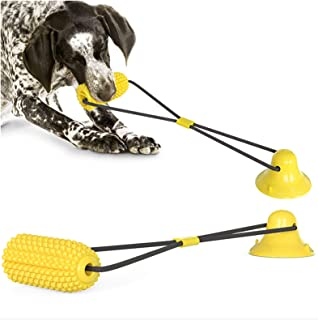 ANTOLE Dog Chew Toys Dog Rope Toys Corn Floor Suction Cup Dog Toy With Durable Dog Rope Multifunctional Pet Molar Bite Toy...