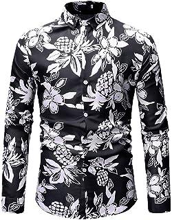 5b61b68433624 Men Folk-Custom Shirts Long Sleeve Painting Casual Hawaiian Blouse