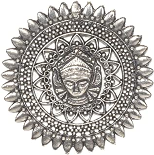 Frolics India Antique Silver Oxidized Stud Earrings for Women & Girls