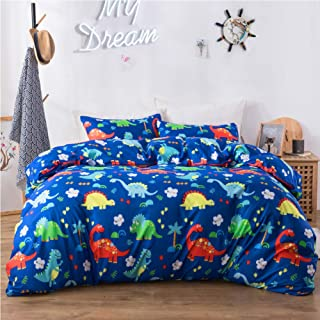 Macohome Kids Bedding Set Twin Duvet Cover Set for Boys with 1 Pillowcase and 1 Duvet Cover (Dinosaur, Twin)