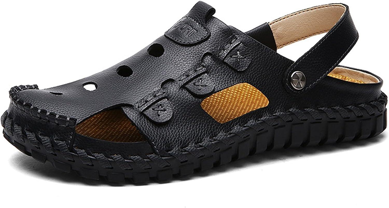 XIE Pakamo Men's Summer Sportsr Sandals Outdoor Trekking Hiking Fisherman Beach shoes With Velcro Lightweight Closed Toe Water shoes