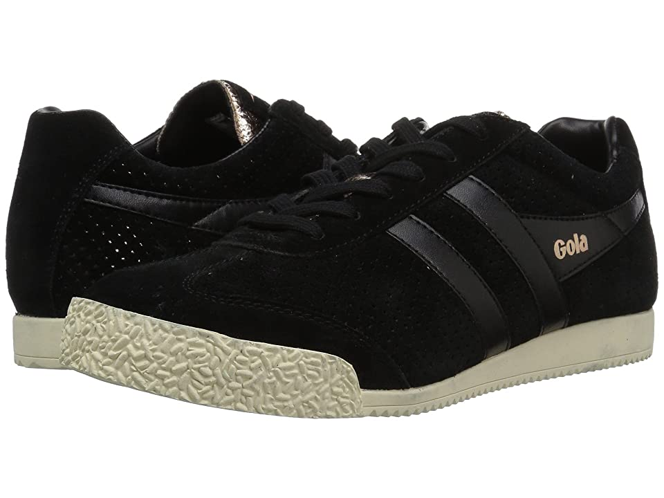 Gola Harrier Glimmer Suede (Black/Rose Gold/Off-White) Women