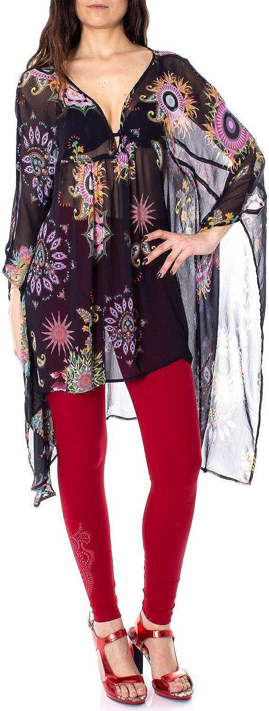 Desigual Women's 19SWMW02BLACK Black Polyester Blouse