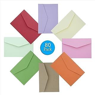 Mini Sobres, Diealles 80 Piezas Multicolor Sobres Adorables Bonitos para Tarjetas de Felicitación Artesanía y
