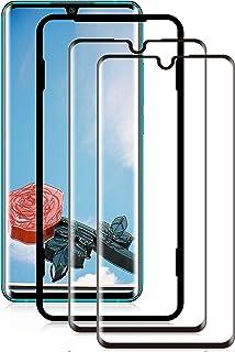 MINZHOU Mi Note 10/Mi Note 10 Pro Panzerglas 2 Pack mit Ausrichtrahmen Anti Scratch Blasenfrei 3D gebogen Gehärtetes Glas Panzerglas für Xiaomi Mi Note 10/Mi Note 10 Pro