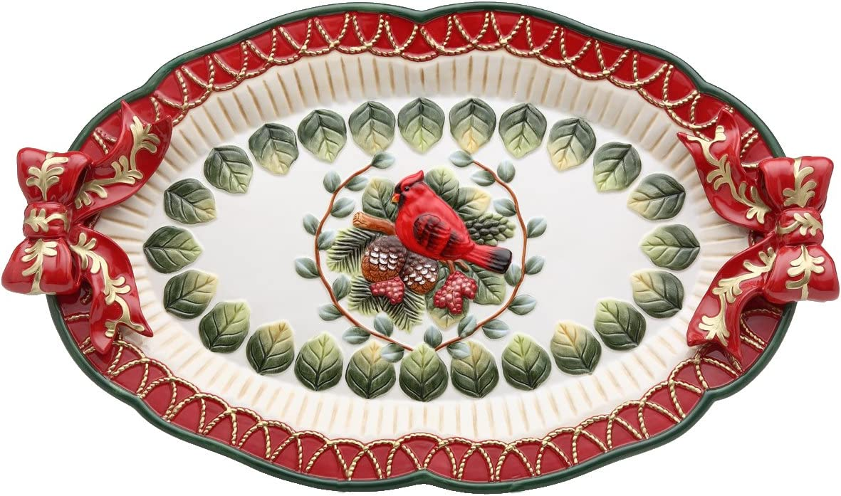 Ranking Direct store TOP9 Cosmos Evergreen Holiday Cardinal Platter