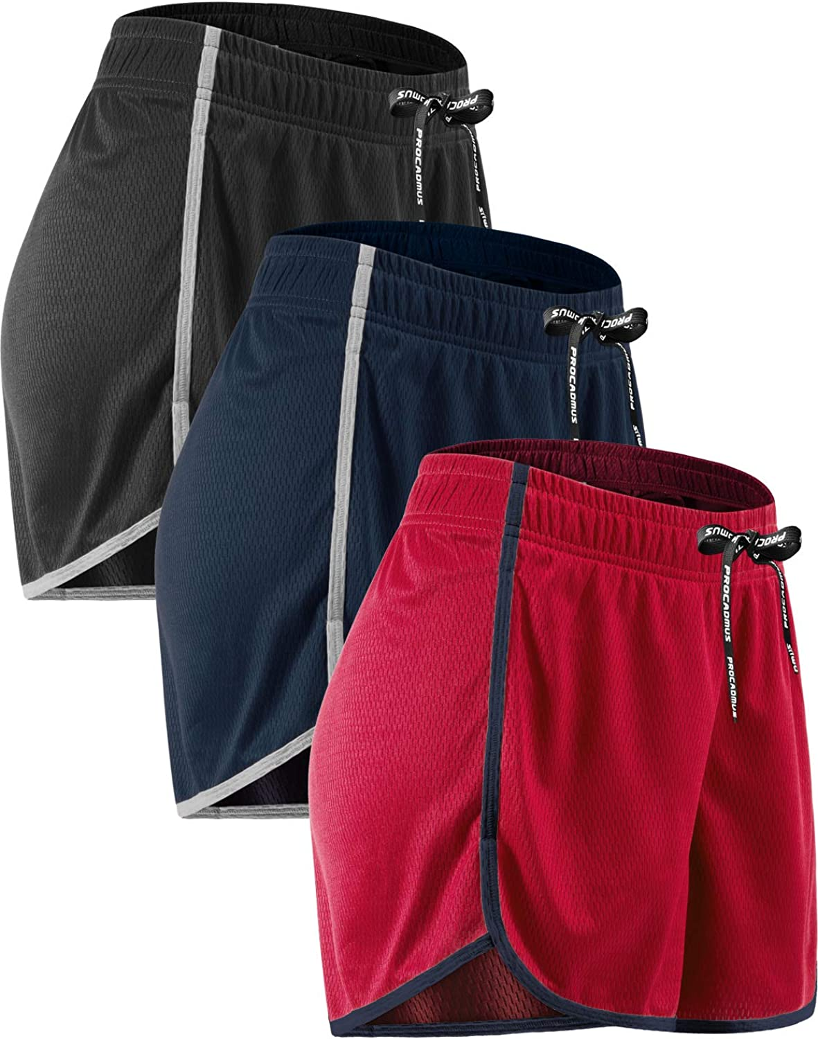 CADMUS Women's Now Outlet sale feature on sale Mesh Leisure Running Workout Athletic Shorts for
