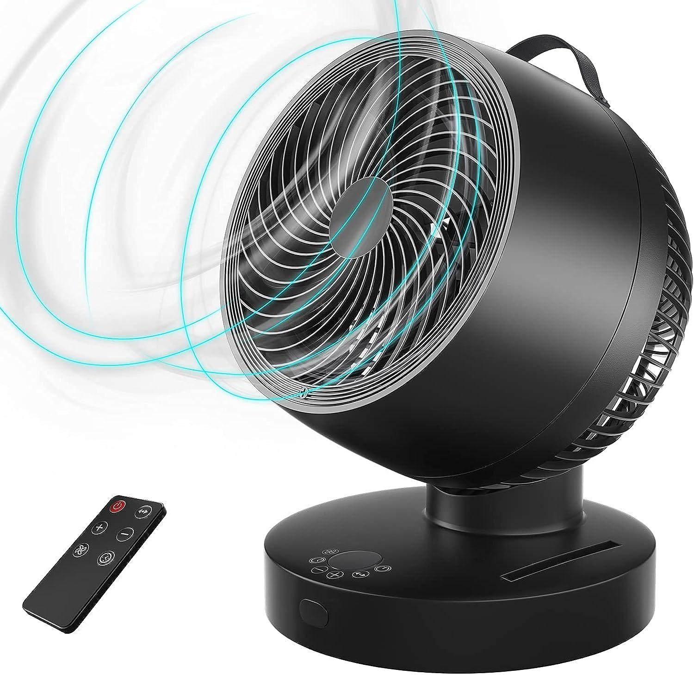 Ventilador Circulación de Aire,Diámetro 33cm Ventilador de Mesa con Control Remoto,6 Velocidades,4 Modos,Temporizador,60° Silencioso Oscilante,Potente Ventilador de Escritorio para Estaciones del Año