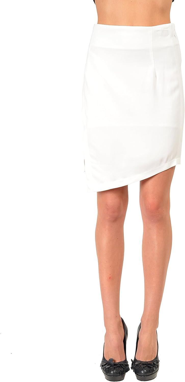 Just Cavalli White Women's Asymmetrical Skirt US S IT 40