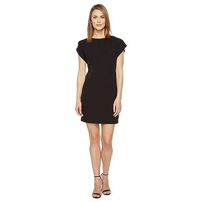 Calvin Klein Flutter Sleeve Shift Dress (Black) Women