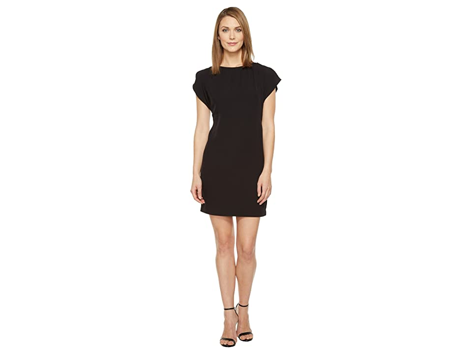 Calvin Klein Flutter Sleeve Shift Dress (Black) Women