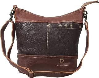 Myra Bag Mexxini Brown Leather Shoulder Bag S-1527