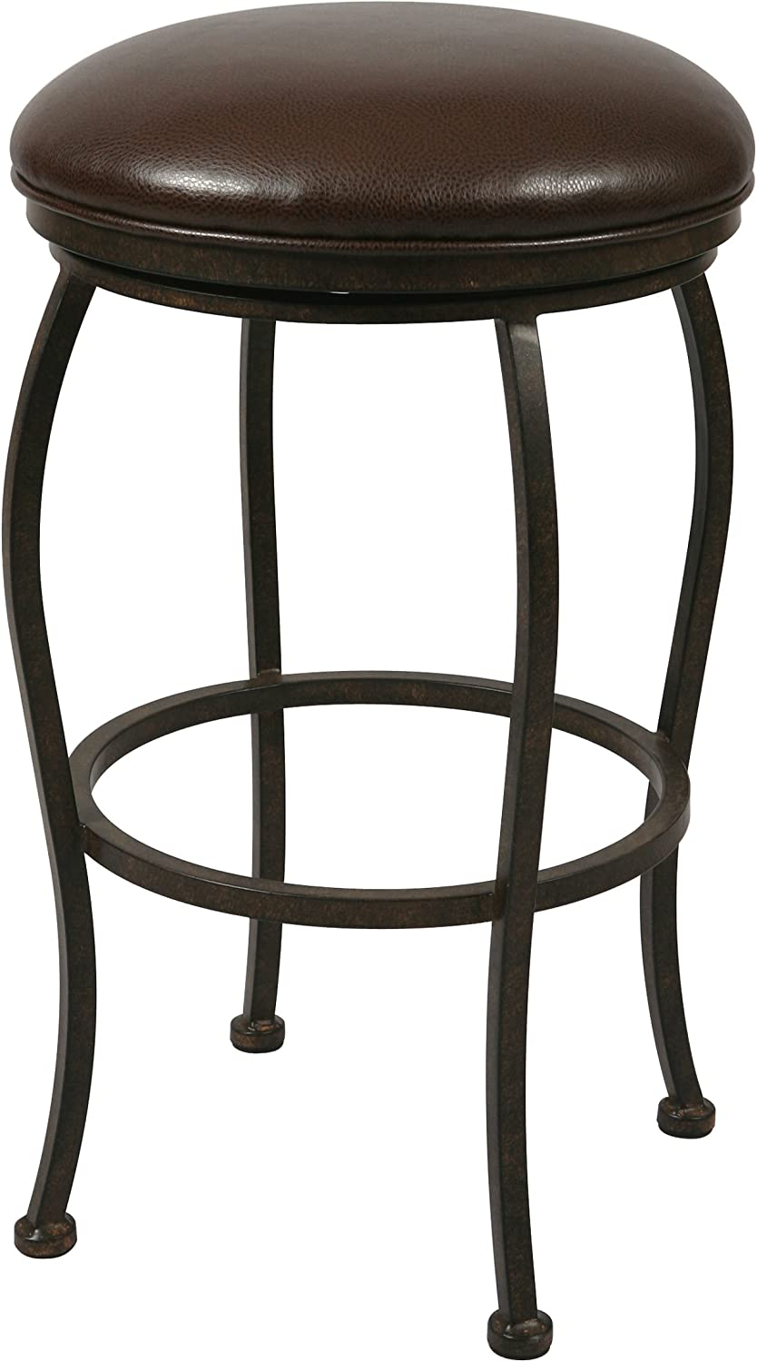 Impacterra Island Falls Backless Barstool 26-Inch, Ford Brown, (QLIF215339945)