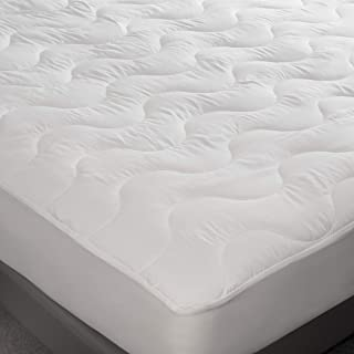 FeelAtHome Hypoallergenic Fitted Mattress Pad Topper (King) - Quilted Fitted Bed Mattress Topper Protection Cover - Super Soft, Comfortable Luxurious Pillowtop with Deep Pockets