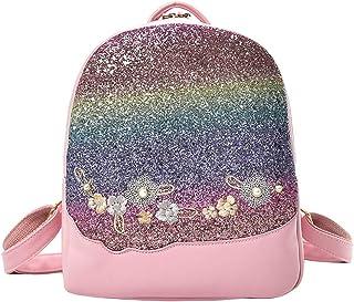 Wultia - Backpack Japan and Korean Style Women Flower Sequin Bag Shoulder Bag Backpack Fashion Wild Student Bag Mochila Feminina *0.92 Pink