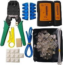 Network Cable Repair Tool Kit, ILIVABLE Professional Computer & Mobile Device Maintenance Crimper 8P 4P 6P Connectors Rj45 Rj11 Cat5 Cat6 LAN Tester Instrument 10 in 1