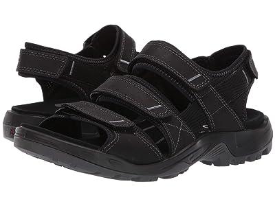 ECCO Sport Offroad 3 Strap Sandal (Black) Men