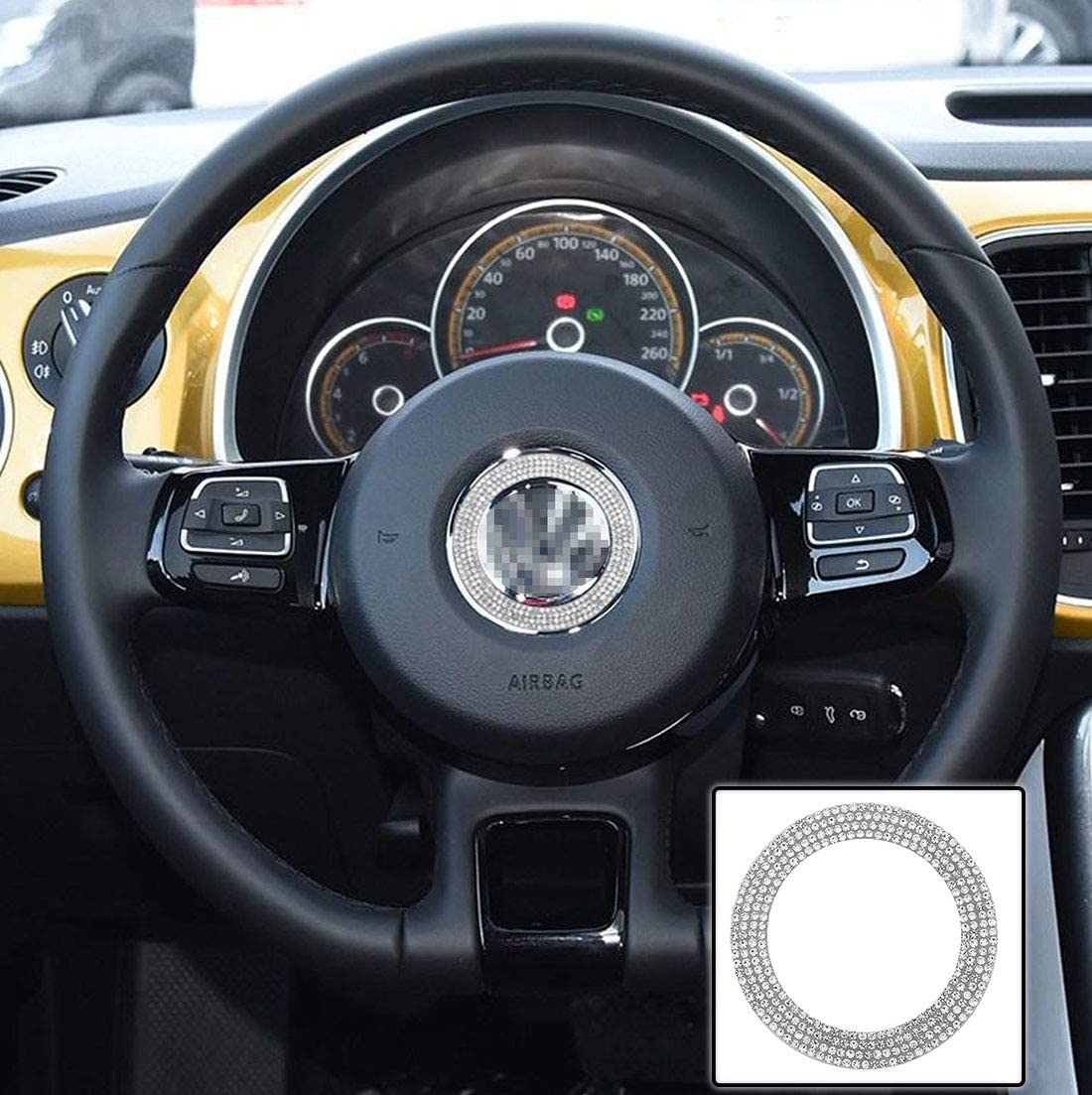 TopDall Steering Wheel Bling Crystal Shiny Int Diamond Accessory Luxury SEAL limited product goods