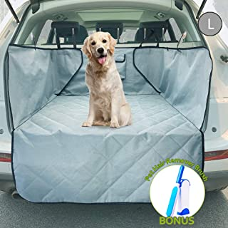 upra Trunk Cargo Liner Covers for Dogs, Quilted Waterproof Oxford Pet Cargo Seat Cover/Car Floor Mat, Machine Washable & Nonslip Backing with Flaps Protection, Universal Fit for All Vehicles