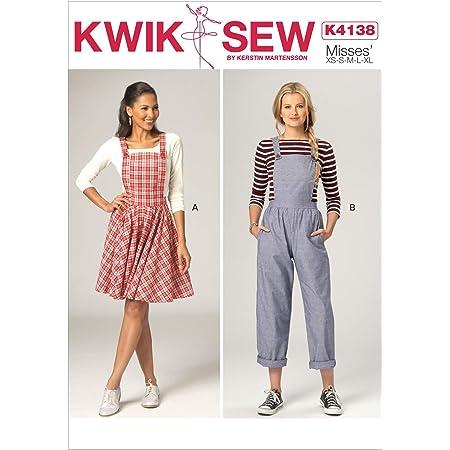 Kwik Sew Patterns K4138OSZ,Misses Jumper and Jumpsuit,Sizes XS-S-M-L-XL, paper, Multicolor, Small-X-Large