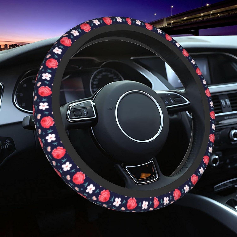 trust Vintage Flower Pattern Car Steering Fit 1 Cover Wheel Lowest price challenge Universal