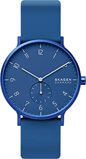 Skagen Aaren Colored Silicone Quartz Minimalistic 41mm Watch