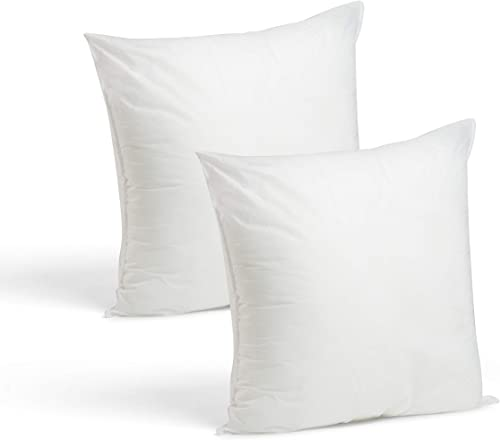new arrival Foamily popular Throw Pillows Insert Set of 2 - 18 x 18 Insert sale For Decorative Pillow Covers - Made in USA - Bed and Couch Pillows online