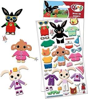 Paper Projects 01.70.34.003 Bing Bunny grube piankowe naklejki do przebierania się, kolorowe, 24,5 cm x 11 cm