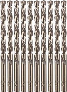 """amoolo 1/4"""" Cobalt Drill Bit(10 Pcs), M35 HSS Metal Drill Bit Set for Hard Metal,.."""