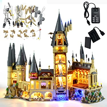 GEAMENT Blocks Light Kit for Harry Potter Hogwarts Castle - Lighting Set Compatible with 71043 Lego Building Model (Lego Set Not Included)