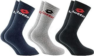 Unisex Tennis Crew Socks LOTTO 3 paia calze sportive vari colori