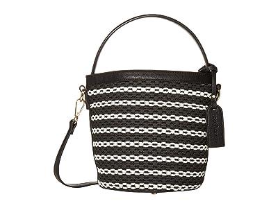 SOLE / SOCIETY Nikole Shoulder (Black/White) Handbags
