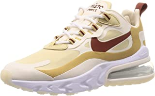 Nike Scarpe Unisex Sneaker Air Max 270 React in Pelle Beige AT6174-700