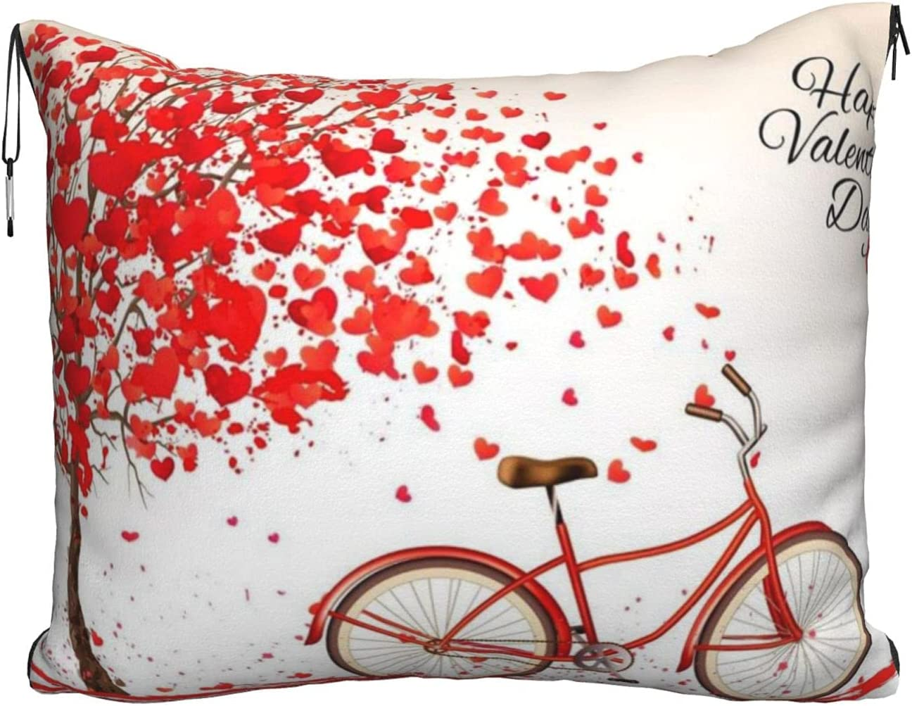 Valentine's Very popular Day Bike Tree Cash special price Red Heart Printed Cycle Travel 2 Bla
