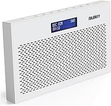 MAJORITY Histon II Compact DAB Radio Portable   Battery Powered with DAB/DAB+ & FM   Dual Alarm & Snooze Function   20 Pre...