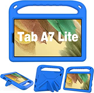 """GOZOPO Kids Case for Samsung Galaxy Tab A7 Lite / SM-T220 T225 (8.7"""") - Lightweight & Shockproof Handle Stand Case (Blue)"""