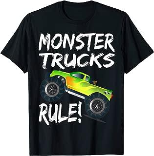 Pit Crew Monster Trucks Happy Sunset Retro Theme  T-Shirt
