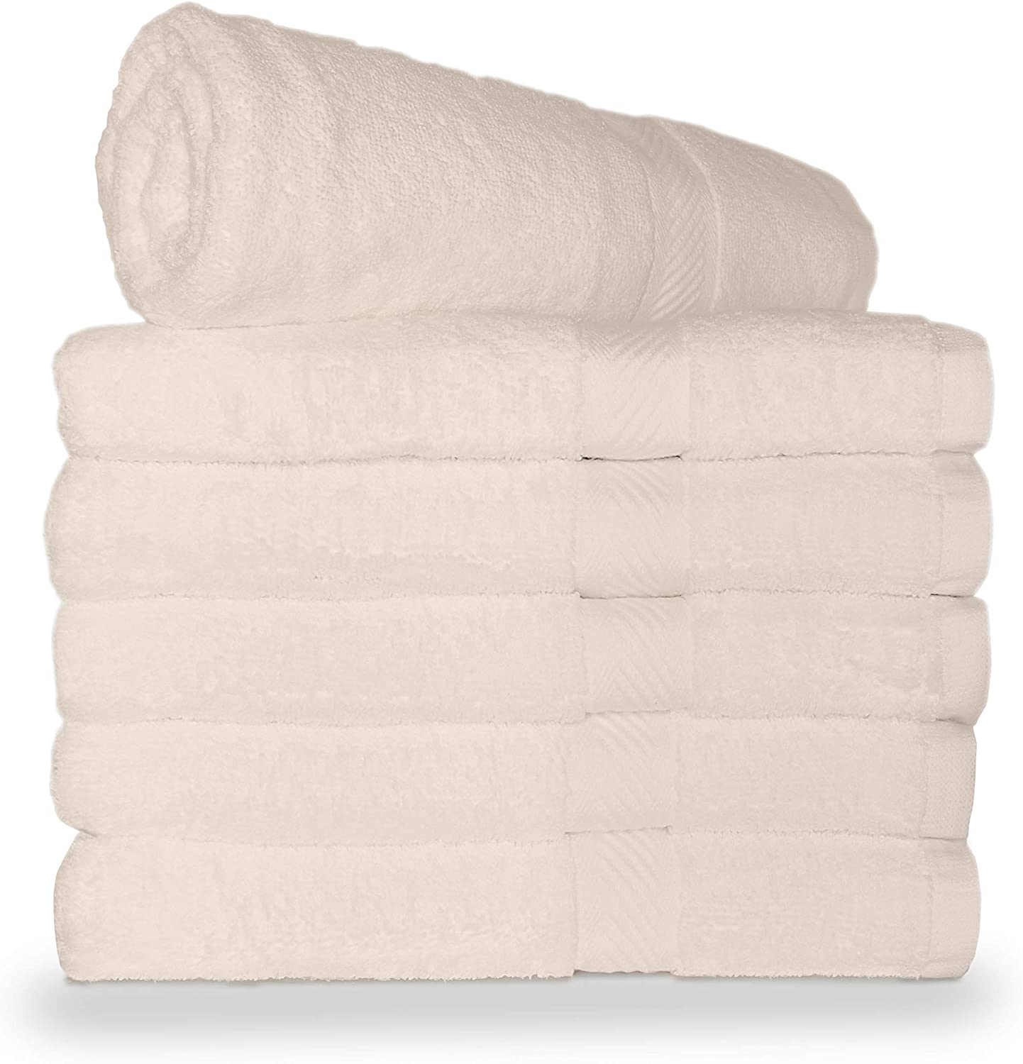 at 10.5 LBS pe dz Weight 100/% Cotton Spa Towels for Pool Gym DO not Settle for Less and Dorm Pack of 6 World Famous Royal Comfort Bath Towel 24x48 Burgundy